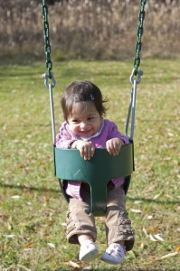 Swinging for Babies and Toddlers